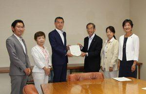 保育園の園外活動の安全対策で申し入れー狛江・松原市長に、日本共産党市議団