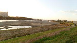 多摩川の土砂の浚渫、国に強力に要請を