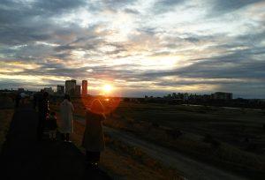 初日の出ー多摩川