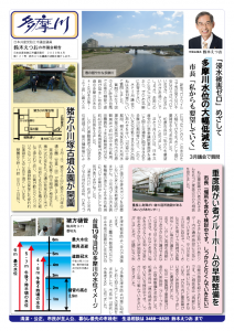 3月議会報告の「多摩川」を発行