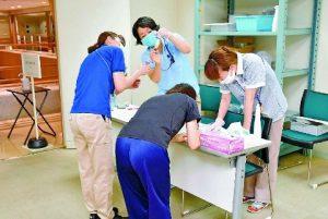 介護施設職員のPCR検査、排水樋管への強力な排水ポンプを
