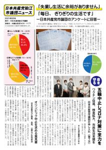日本共産党市議団ニュースを発行しました