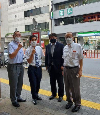 佐竹商店街で施策の訴えを