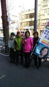 朝のみなさんへのご挨拶は、今日は新高円寺、昨日は永福町でした!