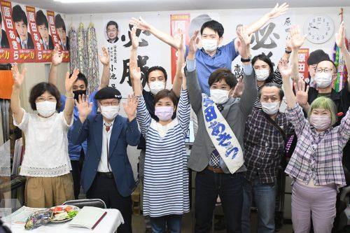 都議会議員選挙 日本共産党18から19議席へ 原田あきら、第2位で当選!!