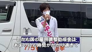 コロナ禍による経済的支援の問題 0621田中とも子候補演説