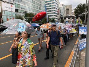 羽田空港都心低空飛行ルート撤回求め、渋谷で初のデモ